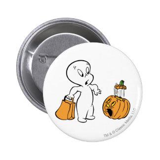 Casper and Pumpkin 2 Pinback Buttons