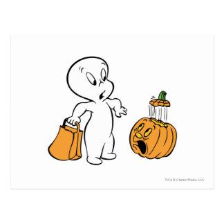 Casper and Pumpkin 2 Postcard