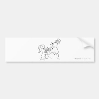 Casper and Snowman Bumper Sticker