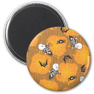 Casper and Spider Webs 2 Inch Round Magnet