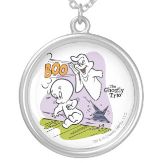 Casper and The Ghostly Trio Silver Plated Necklace