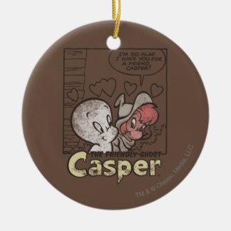 Casper and Wendy Ceramic Ornament