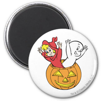 Casper and Wendy in Pumpkin Magnet