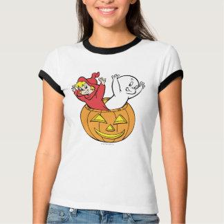 Casper and Wendy in Pumpkin Tee Shirts