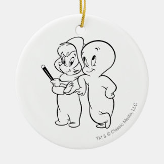 Casper and Wendy Ornaments
