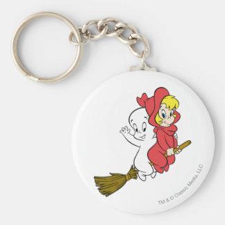 Casper and Wendy Riding Broom Keychain