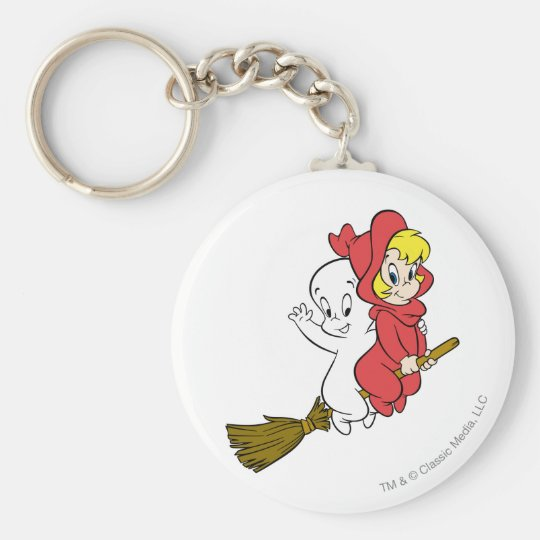 Casper and Wendy Riding Broom Keychain