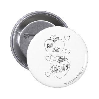 Casper and Wendy Valentine Pinback Button