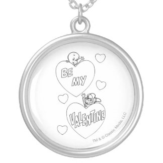 Casper and Wendy Valentine Silver Plated Necklace
