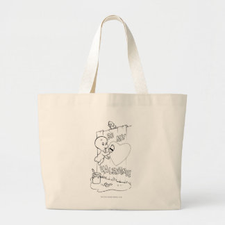 Casper Be My Valentine Large Tote Bag