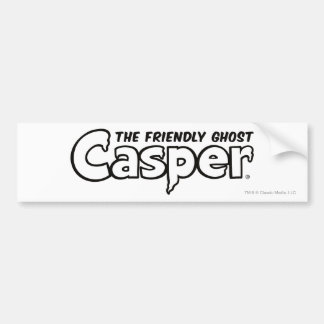 Casper Black Outline Logo Bumper Stickers