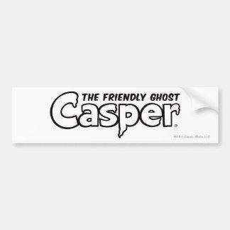 Casper Black Outline Logo Car Bumper Sticker