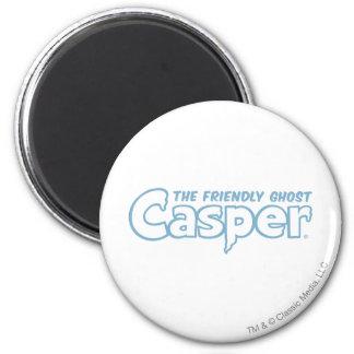 Casper Blue Outline Logo 2 Inch Round Magnet