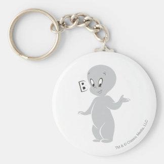 Casper Boo Basic Round Button Keychain