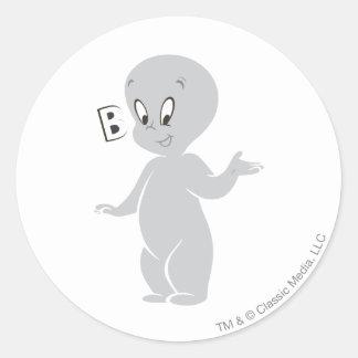 Casper Boo Classic Round Sticker