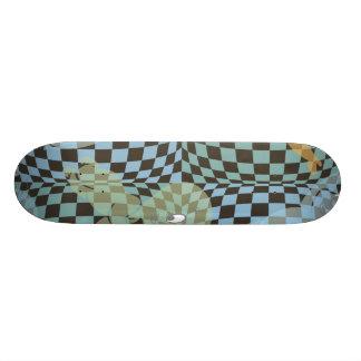 Casper Checkered Pattern Skateboard Deck