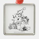 Casper Christmas Tree Square Metal Christmas Ornament