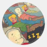 Casper Cover 9 Classic Round Sticker