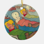 Casper Cover 9 Double-Sided Ceramic Round Christmas Ornament