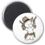 Casper Cowboy 2 Inch Round Magnet