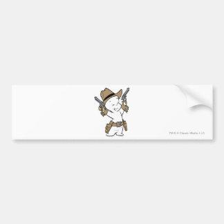 Casper Cowboy Bumper Sticker