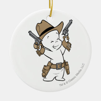 Casper Cowboy Ceramic Ornament