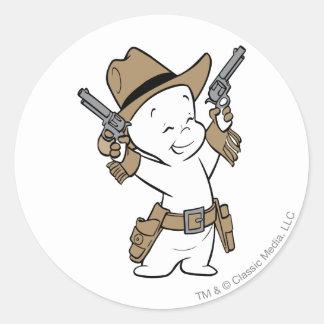 Casper Cowboy Classic Round Sticker