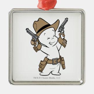 Casper Cowboy Metal Ornament