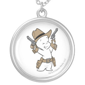 Casper Cowboy Silver Plated Necklace