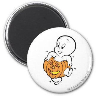 Casper Dancing in Pumpkin 2 Inch Round Magnet