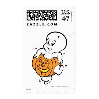 Casper Dancing in Pumpkin Postage