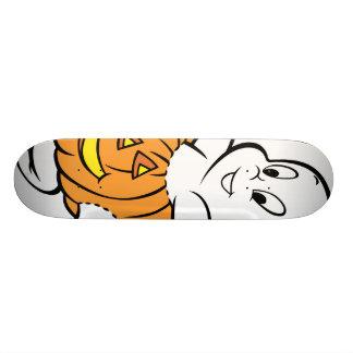 Casper Dancing in Pumpkin Skateboard