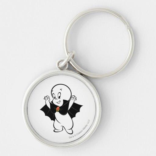 Casper Dracula Costume Silver-Colored Round Keychain