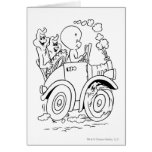 Casper Driving Greeting Cards
