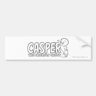 Casper el logotipo amistoso 2 del fantasma pegatina para auto