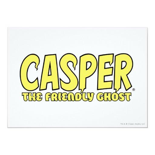 Casper el logotipo amistoso del amarillo del invitación 12,7 x 17,8 cm