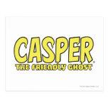 Casper el logotipo amistoso del amarillo del postal
