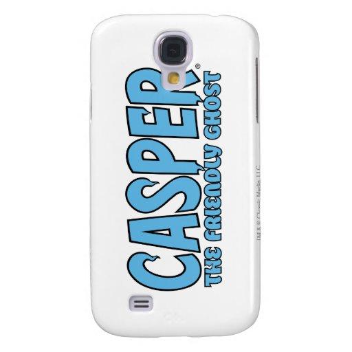 Casper el logotipo azul 1 del fantasma amistoso funda para galaxy s4