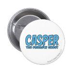 Casper el logotipo azul 1 del fantasma amistoso pin redondo de 2 pulgadas