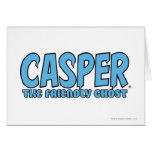 Casper el logotipo azul 1 del fantasma amistoso felicitación