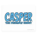 Casper el logotipo azul 1 del fantasma amistoso postal
