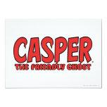 """Casper el logotipo rojo 1 del fantasma amistoso invitación 5"""" x 7"""""""