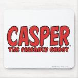 Casper el logotipo rojo 1 del fantasma amistoso mouse pad