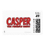 Casper el logotipo rojo 1 del fantasma amistoso franqueo