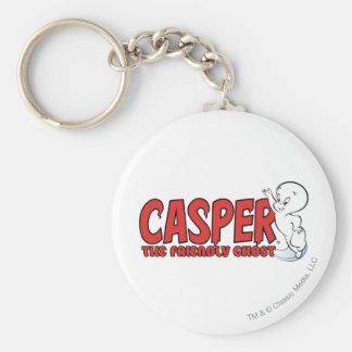Casper el logotipo rojo 2 del fantasma amistoso llavero redondo tipo pin