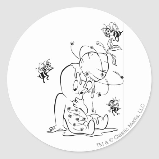 Casper en colmena pegatinas redondas