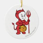 Casper en traje del diablo ornamento para arbol de navidad