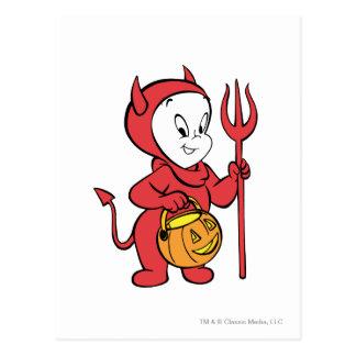 Casper en traje del diablo tarjeta postal