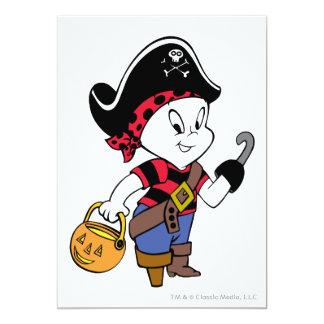 """Casper en traje del pirata invitación 5"""" x 7"""""""