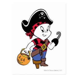 Casper en traje del pirata tarjeta postal